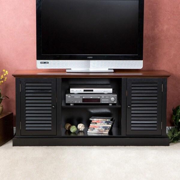 Antebellum Two-Tone Walnut/ Black Media Stand
