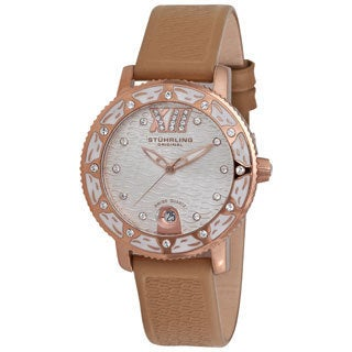 Stuhrling Women's 'Lady Marina' 16K Rose Goldplated Watch