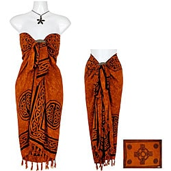 Orange Celtic Cross Sarong (Indonesia)