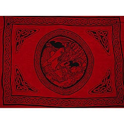 'Maiden and the Dragon' Celtic Sarong (Indonesia)