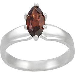 Tressa Sterling Silver Genuine Marquise-cut Garnet Ring