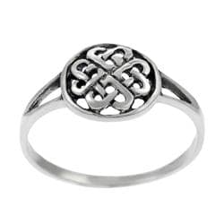 Tressa Sterling Silver Round Celtic Knot Ring