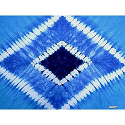 Double Blue Diamond Tie-dye Sarong (Indonesia)