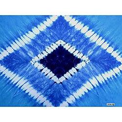 Double Blue Diamond Tie-dye Sarong (Indonesia)
