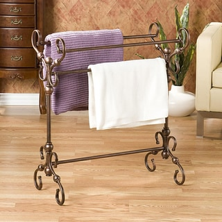 Everton Antique Bronze Finish Quilt and Blanket Rack