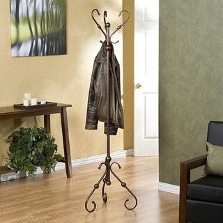 Antique Bronze Hall Tree/Coat Rack