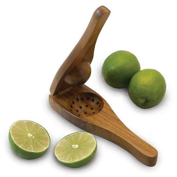 Handmade EcoTeak Wood Lime Squeezer (Thailand)