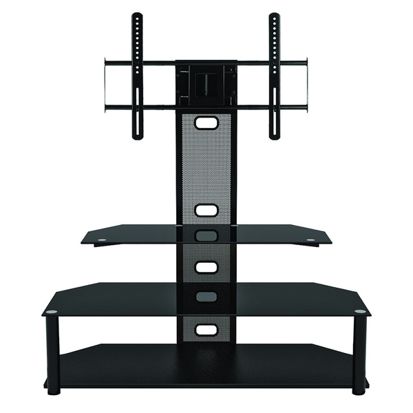Sync Flat Panel 3 in 1 tv Stand with Accspiano Black Finish Finish for up to 60-inch TV.