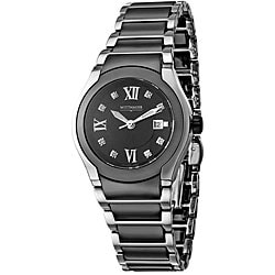 Wittnauer Women's Ceramic Stainless Steel Diamond Watch