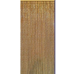Natural Bamboo Beaded Curtain , Handmade in Vietnam