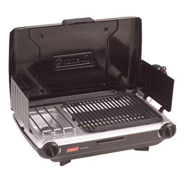 Black Die-cast Aluminum Coleman Two-burner Propane Stove/Grill