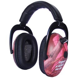 Pro 300 NRR 26 Pink Camo Electronic Ear Muffs (WWP)