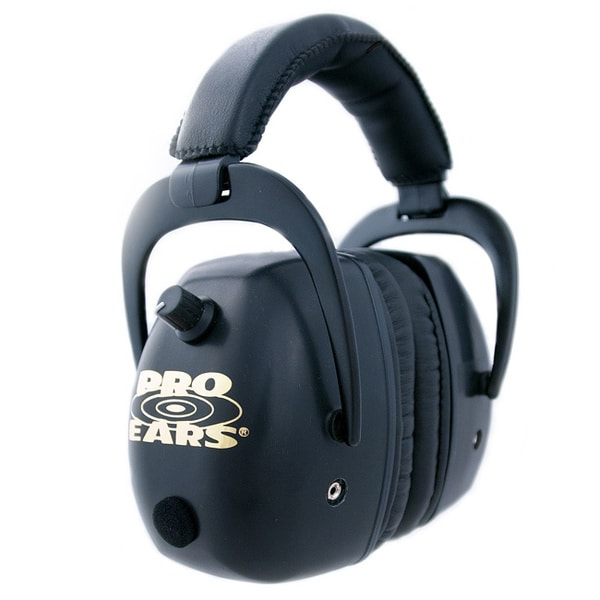Pro Ears NRR 30 Black Pro Mag Gold Electronic Hearing Protection and Amplification Shooting Range Ear Muffs