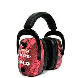 Pro Mag Gold NRR 33 Pink RealTree Camo Earmuffs (WWP)