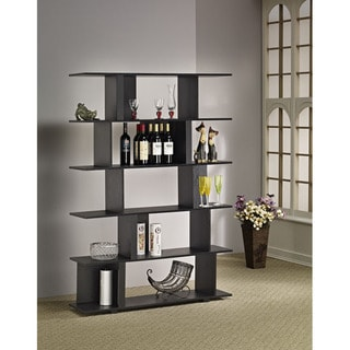 Lian Cinnamon Black Bookcase, Room Divider and Display Shelf