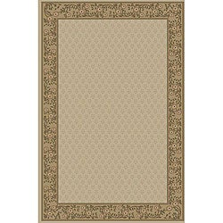 Jewel Ivory Border Rug (5'3 x 7'7)
