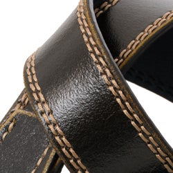 Boston Traveler Men's Topstitched Leather Belt