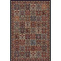 Panel Red Oriental Rug (5'3 x 7'7)