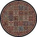 Panel Red Oriental Rug (5'3 Round)