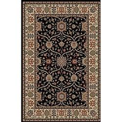 Voysey Black Oriental Rug (7'10 x 9'10)