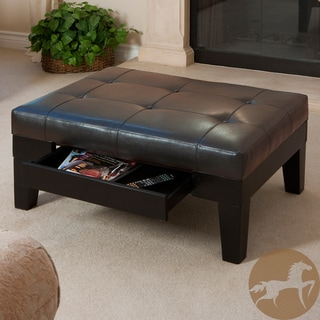Christopher Knight Home Chatham Dark Espresso Bonded Leather Storage Ottoman