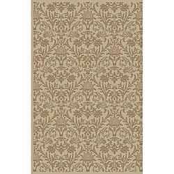 Damask Ivory Oriental Rug (5'3 x 7'7)