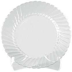 WNA Comet West 7.5-inch Clear Plates (Case of 180)