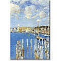 Frederick Childe Hassam 'Port of Gloucester Island' Canvas Art