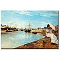 Berthe Morisot 'Port at Loby' Small Unframed Art Print