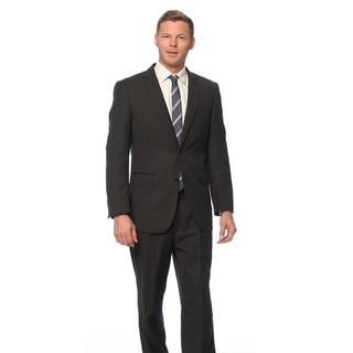 Men's Grey Wool/ Silk Pinstripe Suit