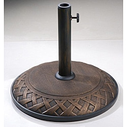 Bronze Interlace 55-pound Umbrella Stand