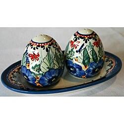 Stoneware Salt and Pepper Shaker Set (Poland)