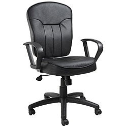Boss Bonded Leather Loop Arm Task Chair