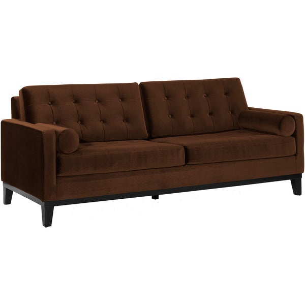 Modern Brown Velvet Sofa Overstock Shopping Great Deals On Sofas Loveseats