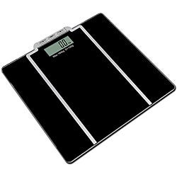 Tempered Glass Black Digital Body Fat and Water Scale