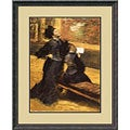 Edgar Degas 'Visit to a Museum' Framed Art Print