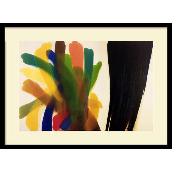 Morris Louis 'Winged Hue II' Framed Art Print
