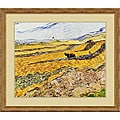 Vincent Van Gogh 'Enclosed Field with Ploughman' Framed Art Print