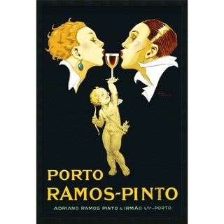 Rene Vincent 'Porto Ramos-Pinto' Framed Art Print with Gel Coated Finish
