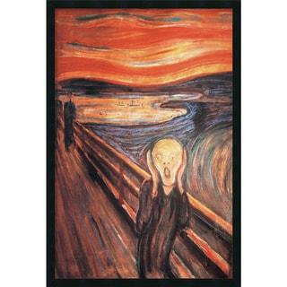Edvard Munch 'The Scream, 1893' Framed Art Print with Gel Coated Finish