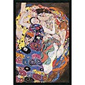 Gustav Klimt 'The Virgins (Le Vergini)' Gel-coated Textured Art