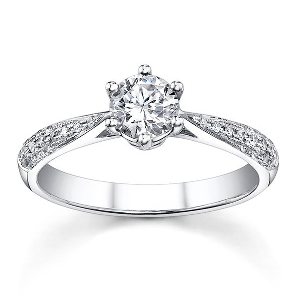 18k White Gold 3/4ct TDW Diamond Engagement Ring (H-I, SI1-SI3)