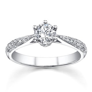 18k White Gold 3/4ct TDW Diamond Engagement Ring (H-I, SI1-SI3)