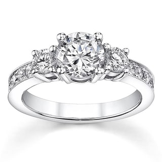 18k White Gold 1 1/5ct TDW Diamond Engagement Ring (H-I, SI1-SI3)