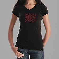 Los Angeles Pop Art Women's Banzai V-neck Shirt