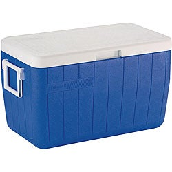 Coleman 48-quart Blue Rustproof Plastic Cooler with 63-can Capacity