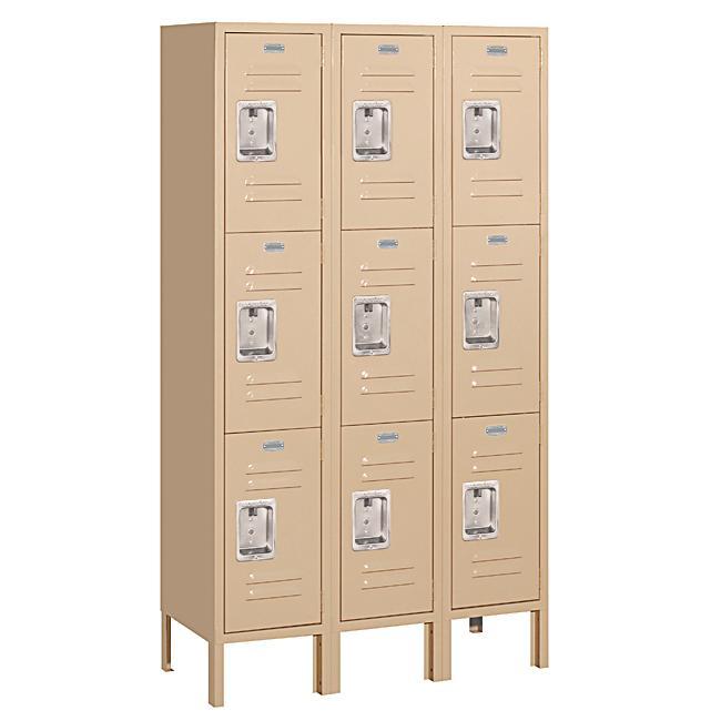 Salsbury Industries Tan 16-Gauge Steel Triple-Tier Standard Lockers