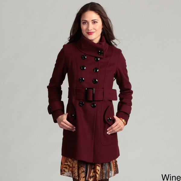 Miss Sixty Women's Double-breasted Peacoat