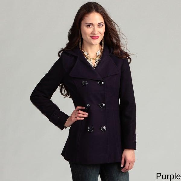 Miss Sixty Women's Hooded Wool Peacoat