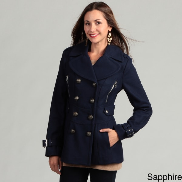 Miss Sixty Women's Wool Blend Peacoat